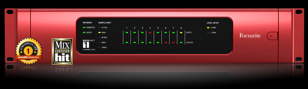 Focusrite RedNet pro audio equipment