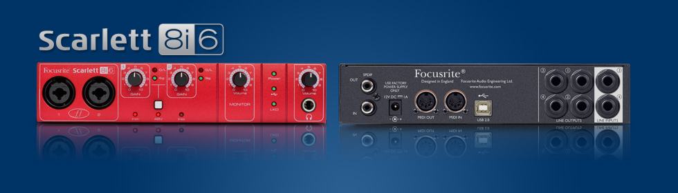 Scarlett 8i6 usb audio interface